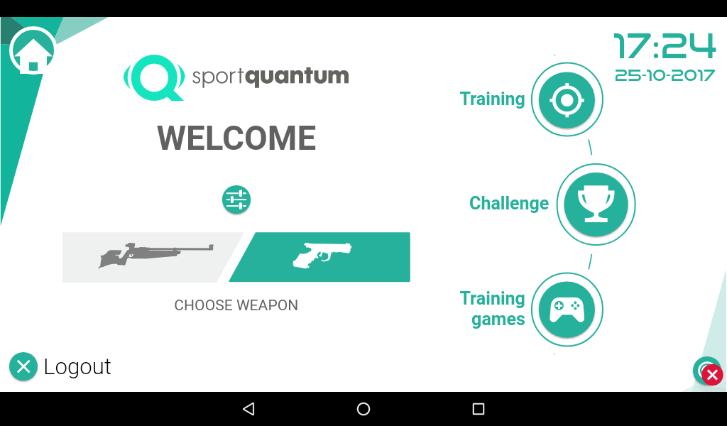 Sport Quantum welcome screen